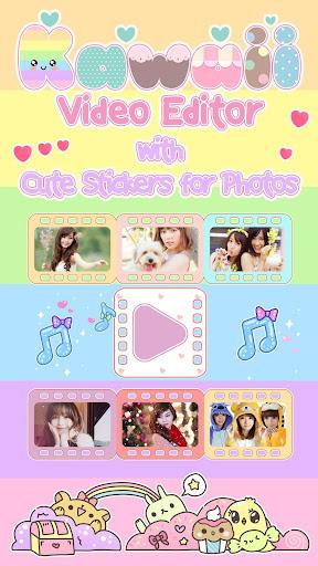 Kawaii Video Editor with Cute Stickers for Photos screenshots 1