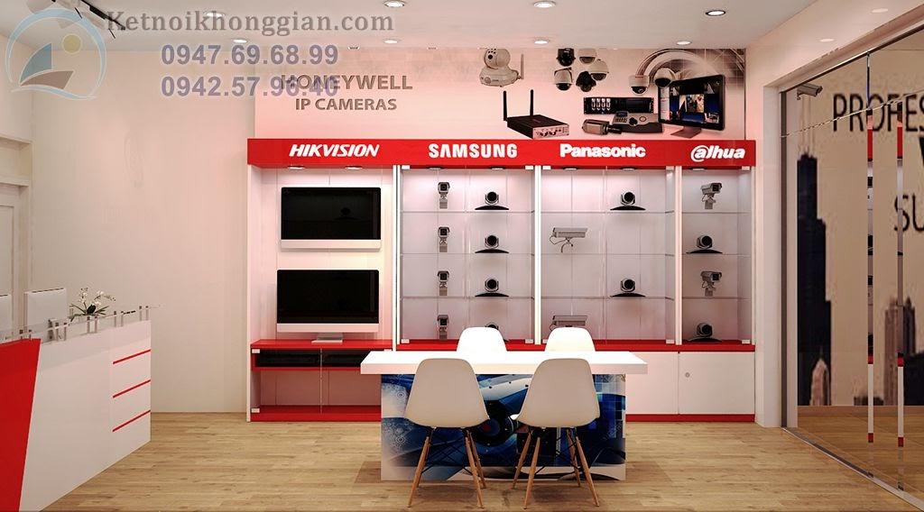 thiết kế cửa hàng camera với tông màu cuốn hút