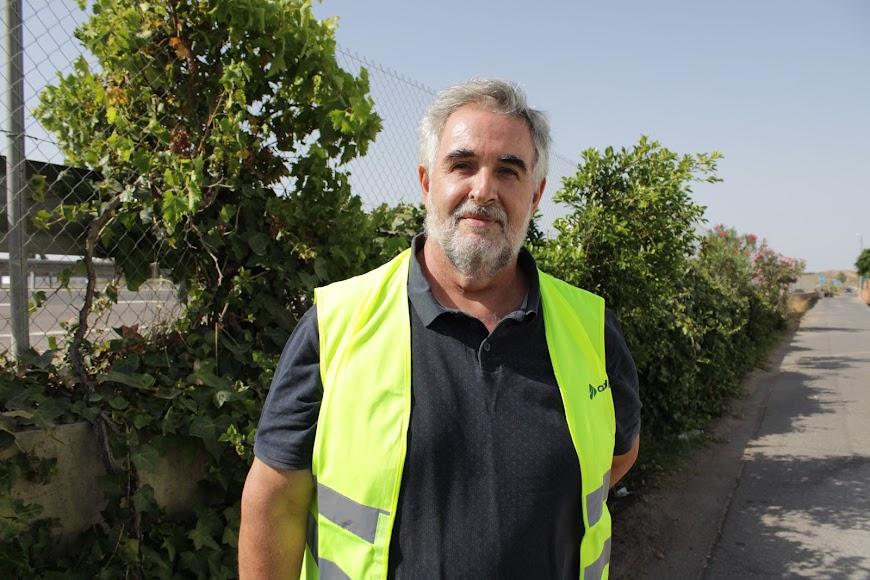 El coordinador y portavoz de la Mesa en Defensa del Ferrocarril de la provincia de Almería