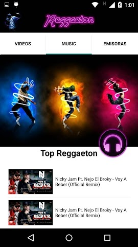 android Reggaeton Musica Videos Radio Screenshot 2