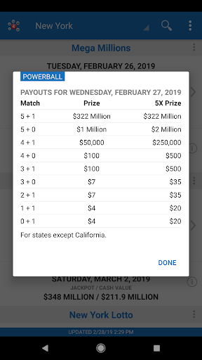Lotto Results - Mega Millions Powerball Lottery US by My Lottos LLC