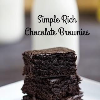 Simple Rich Chocolate Brownies