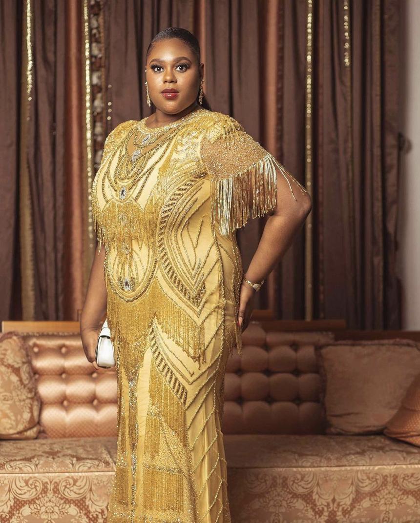Soba Dakuku Peterside | Golden dress | Inspiring Health and Travel