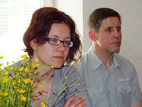Photo: LASS pirmininko pavaduotoja Ramunė Balčikonienė  ir LASS narys, žurnalistas ir poetas Alvydas Valenta.