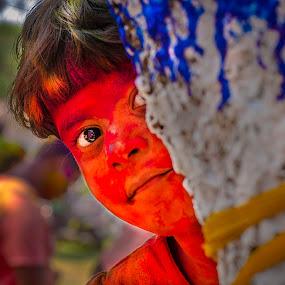 HIDE & SEEK HOLI by Saheb Sarkar - Babies & Children Child Portraits