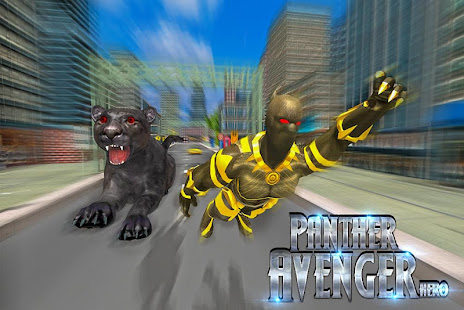 Superhero Panther Flying City Survival screenshot