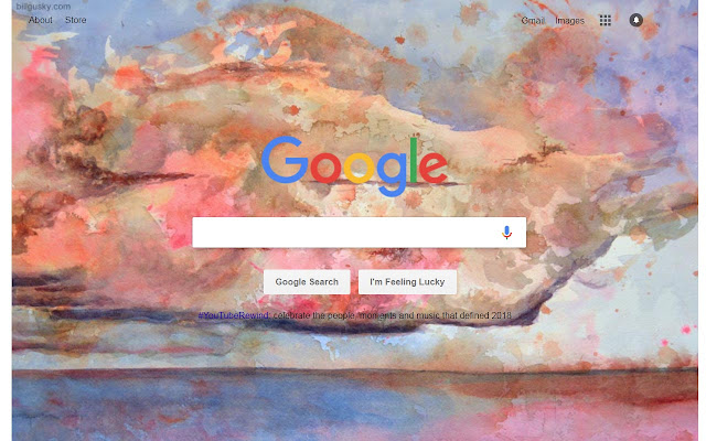 Make 'Cloud Bank' your Google Background