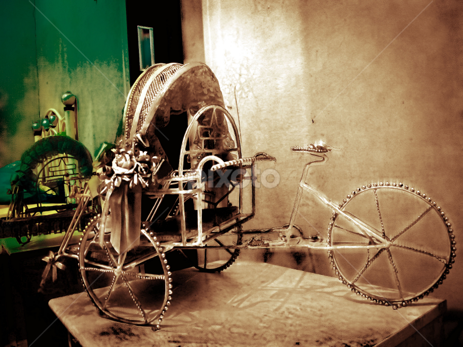 bechax by Zaky Maghfur - Artistic Objects Toys ( pwcmirror, ancient, rare, artistic, object, becak )