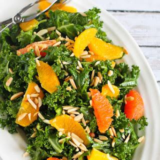 Kale & Orange Salad with Toasted Almonds