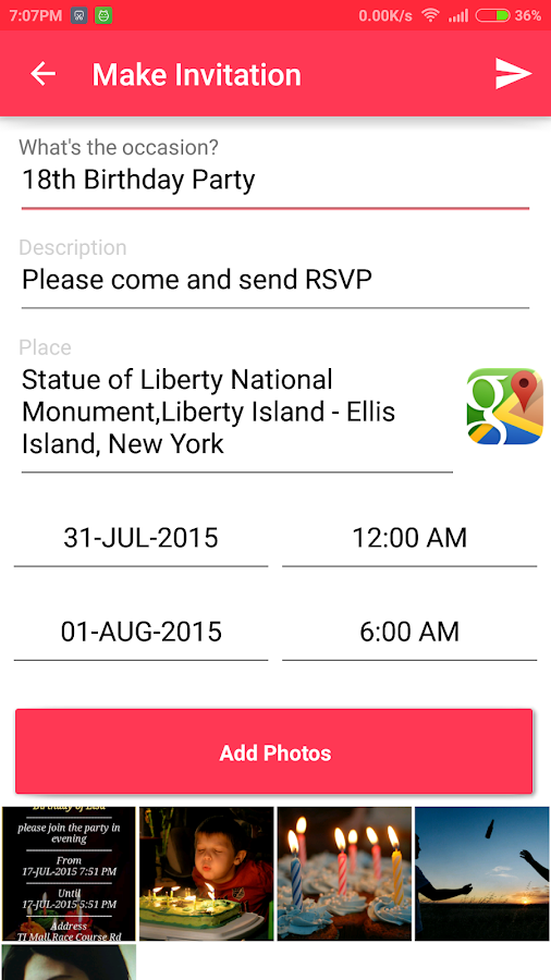 Birthday Invite Card With RSVP Android Apps on Google Play – Invitation Card Rsvp