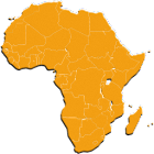 africa map , african countries and flags QUIZ icon