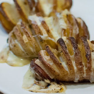 Raclette Hasselback potatoes
