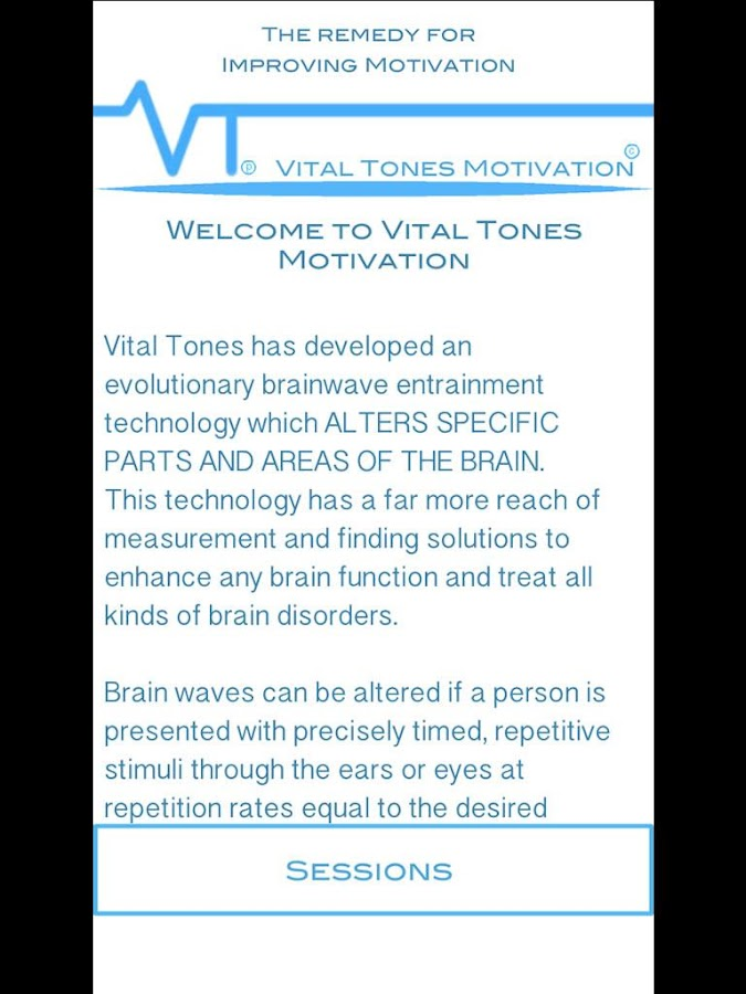 Vital Tones Motivation- screenshot