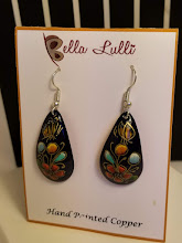 Photo: Black Enameled Earrings by Bella Lulli