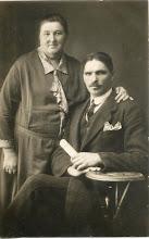 Photo: Rupeika Izidorius su Rupeikiene Petronėle. Nuotrauka iš Juozo Šakinio asmeninio archyvo.