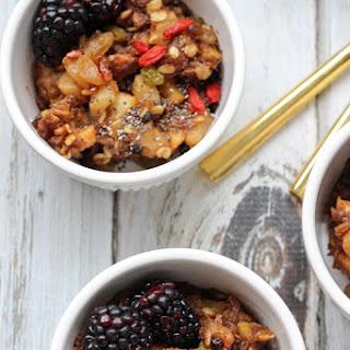 Vegan Superfood Baked Pears & Oatmeal