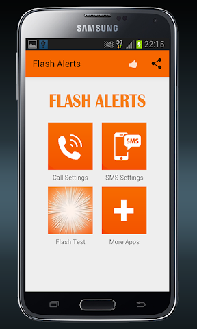 android Flash Alerts on Call and SMS Screenshot 3