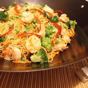 Shrimp and Vegetable Noodle Stir-fry