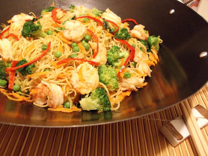 Shrimp and Vegetable Noodle Stir-Fry Recipe