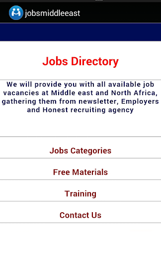 Jobs Middle East North Africa