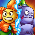 Zombie Defense - Plants War - Merge idle games icon