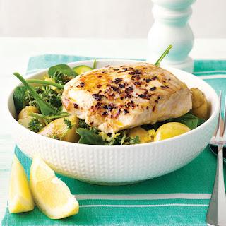 Pan-fried Fish With Lemon-dressed Greens.