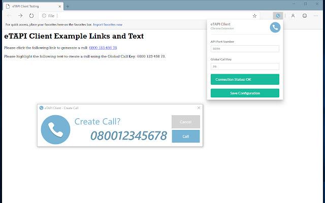 eTAPI Client - Chrome Extension