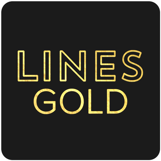Lines Gold  Icon Pack Pro Version