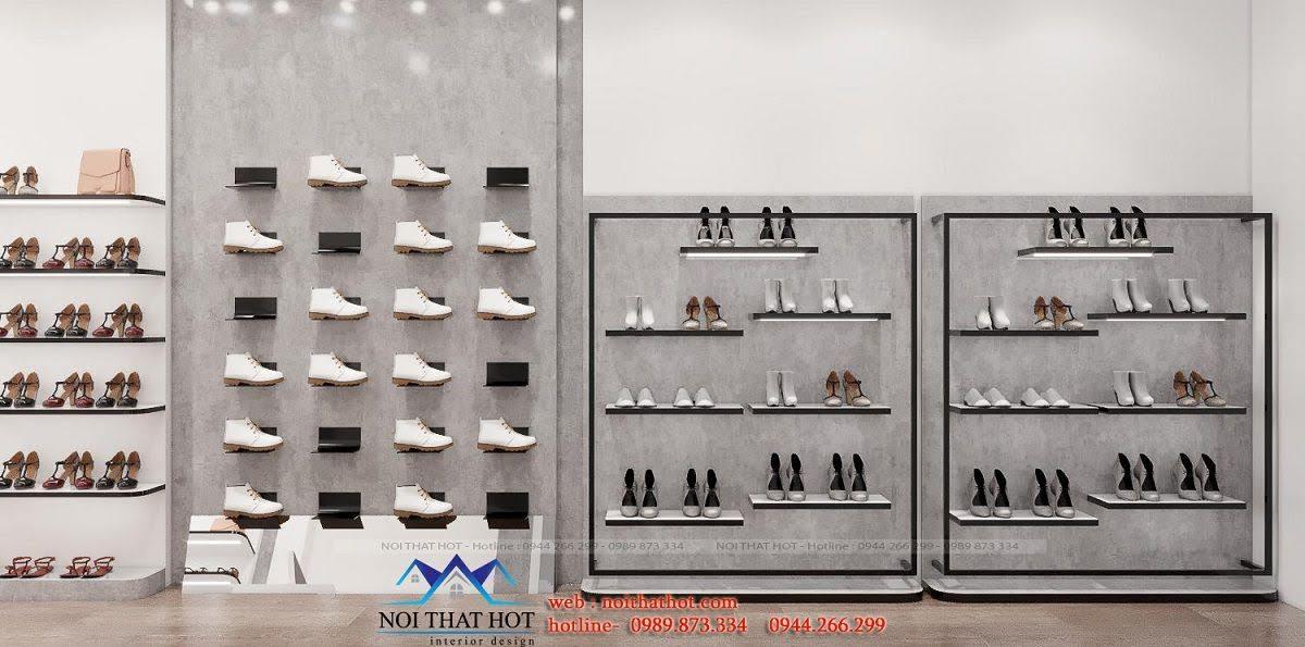kệ trưng bày giày đẹp