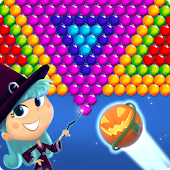 Bubble Shooter Halloween Witch