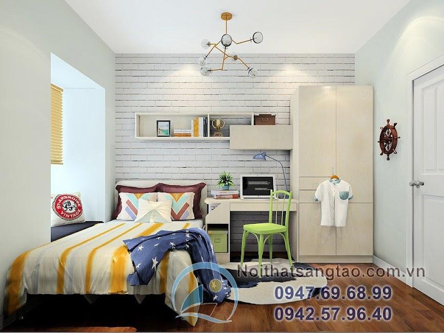 thiết kế phòng ngủ mạnh mẽ