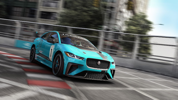 The electric race cars are based on the I-PACE performance SUV to be launched in SA early next year. Picture: SUPPLIED