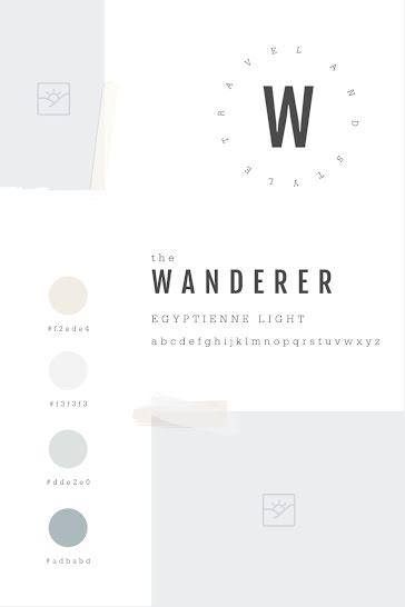 Wanderer Brand Blank - Brand Board Template