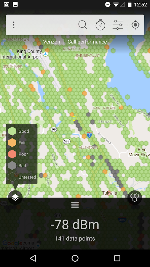 Coverage Map- screenshot
