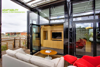 Photo: The 2013 UNC-Charlotte UrbanEden House, Charlotte NC. Designed and built by the UNC-Charlotte SolarDecathlon Architecture team, Mona Azarbayjani, Architecture Lead Faculty.