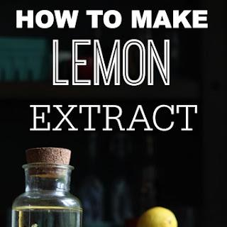 How To Make Lemon Extract.