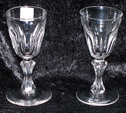 Photo: English, Victorian 1880-1890. Double baluster stems