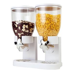 Dispenser dublu pentru cereale, bomboane, capacitate 1 kg