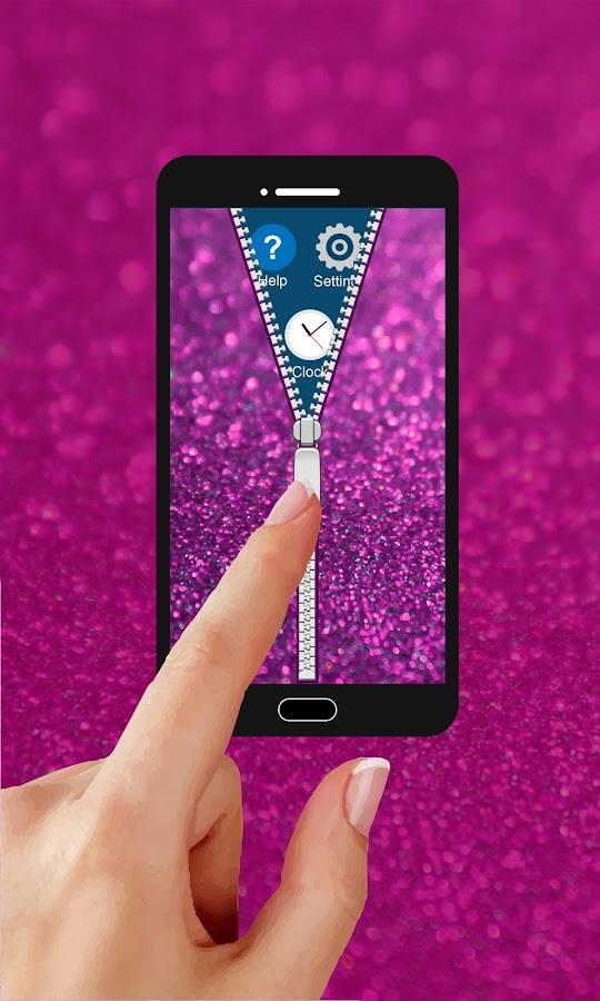 glitter zipper lock screen app download