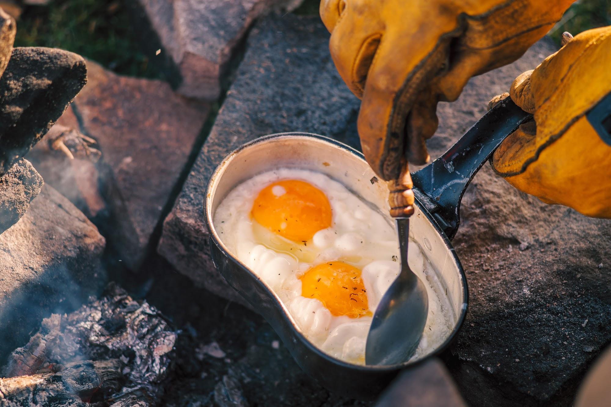 Яєшня на вогні