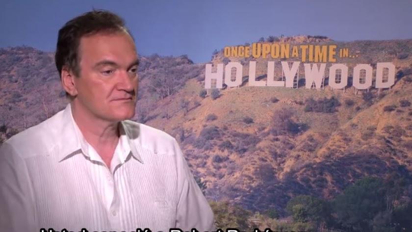Tarantino, durante la entrevista en la que ha declarado su intención de venir a Almería.