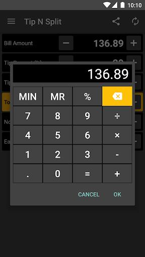 Tip N Split Tip Calculator Screenshot