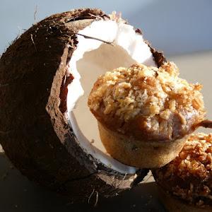 Gourmet Banana, Coconut, and Pecan Muffins