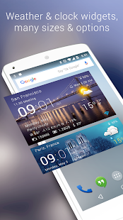 Transparent clock & weather- screenshot thumbnail