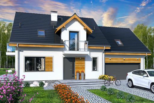 projekt Jaskółka 6 z garażem 2-st.