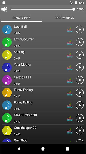 Screenshot for Funny Ringtones in United States Play Store