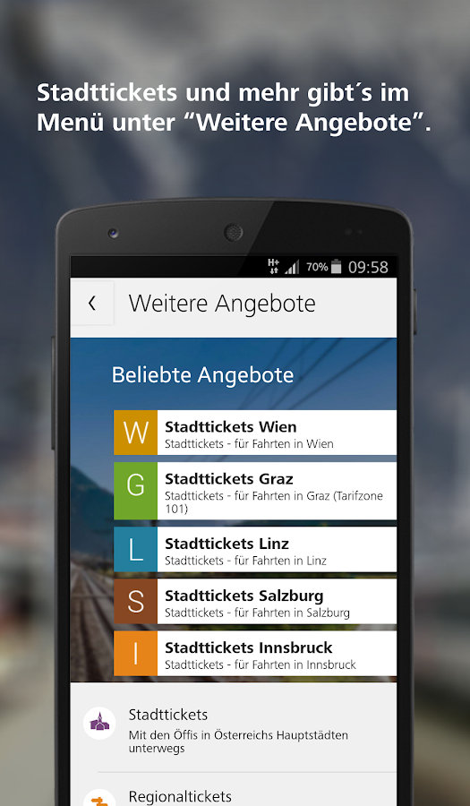 ÖBB – Screenshot