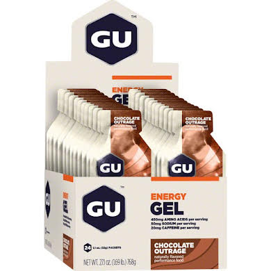 GU Energy Gel: Chocolate Outrage Box of 24 Thumb