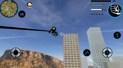 Neon Iron Stickman Rope Hero City Gangstar Mafia screenshot 8