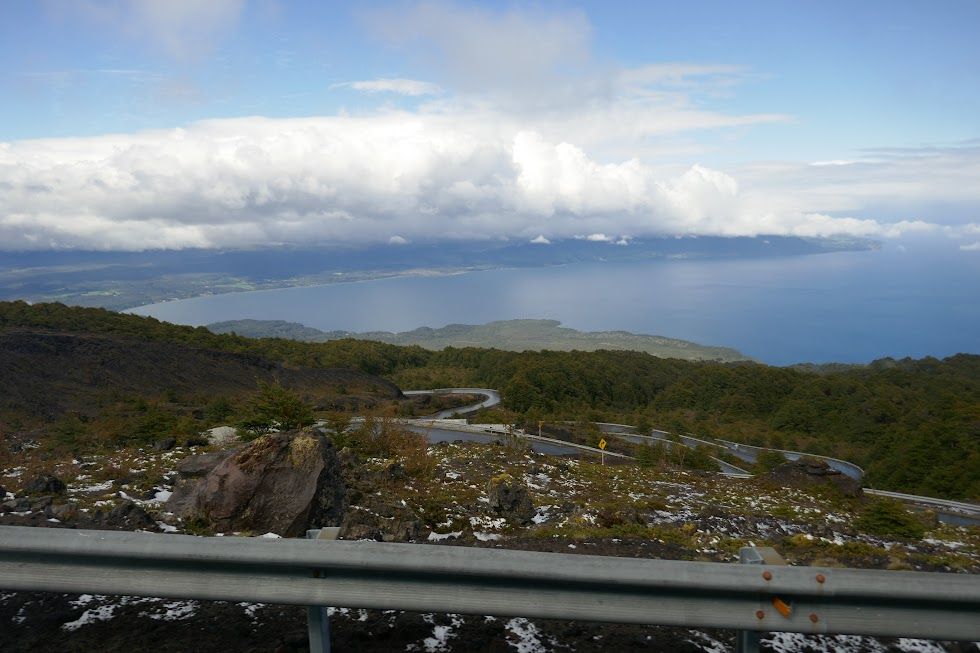 View from partway up Osorno